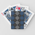 Blue & Gray Knit Argyle Pattern Bicycle Playing Cards