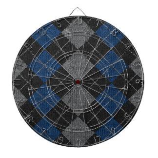 Blue & Gray Knit Argyle Pattern Dart Boards