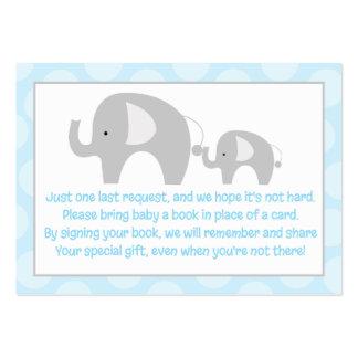 Blue/Gray Mod Elephant Enclosure Book Request Card Large Business Card