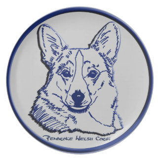 Blue & Gray - Noble Expression Melamine Plate