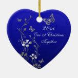 Blue, Gray Our 1st Christmas Keepsake Ornament
