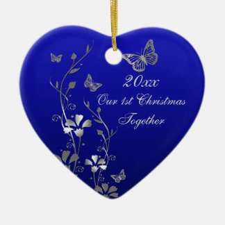 Blue, Gray Our 1st Christmas Keepsake Ornament