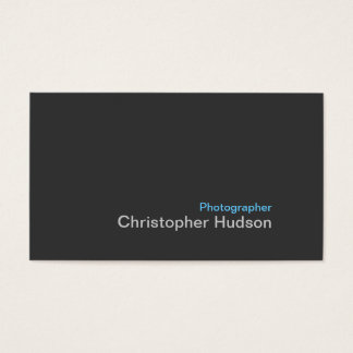Blue Gray Photography Business Card