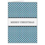 Blue & Gray Polka Dots Christmas Card