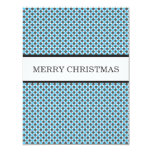 Blue & Gray Polka Dots Christmas Flat Cards Personalized Invites
