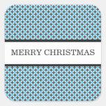 Blue & Gray Polka Dots Christmas Stickers