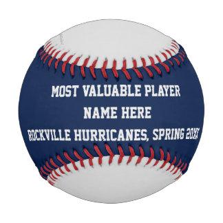 Blue Gray Red Baseball, MVP Player Award Baseball