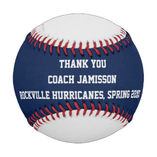 Blue Gray Red Baseball, Thank You to Coach Baseball