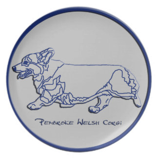 Blue & Gray - Side Gait Dinner Plate