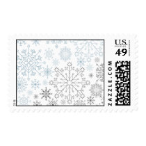 blue gray snowflakes winter holidays stamps