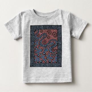 Blue Gray Splat Baby T-Shirt