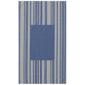 Blue gray stripe awning stripe cotton tablecloth