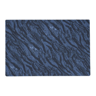 Blue Gray Striped Camo Placemat