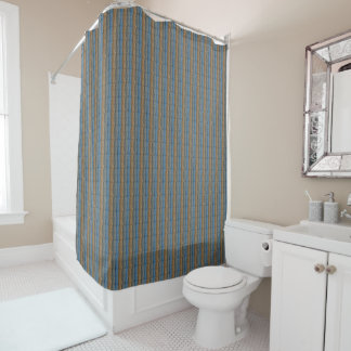 tan and gray shower curtain. Blue Gray Tan Stripes Shower Curtain And Curtains  Zazzle
