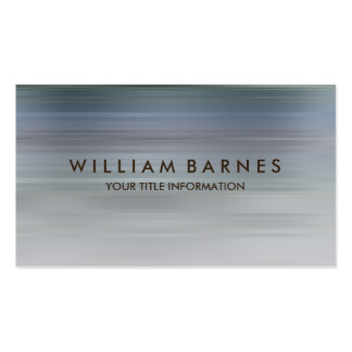 Blue Gray Teal Stripe Business Card