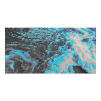 Blue Gray Water Photo Card