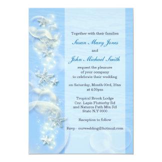 Blue gray wedding engagement anniversary 5x7 paper invitation card