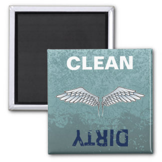 Blue-gray wings magnet