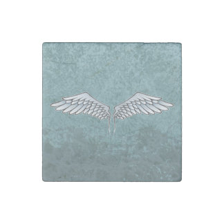 Blue-gray wings stone magnet