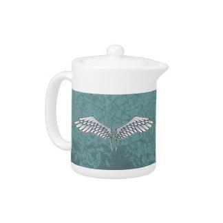 Blue-gray wings teapot