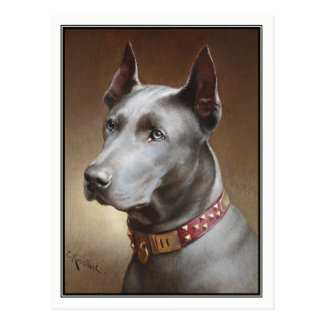 Blue Great Dane by Carl Reichert Postcard