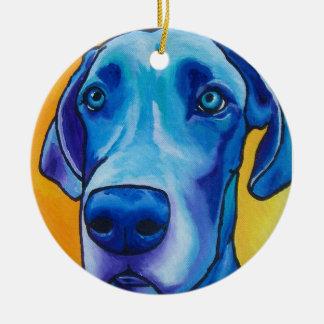 Blue Great Dane Oranment Ceramic Ornament