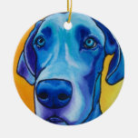 Blue Great Dane Oranment Christmas Tree Ornament