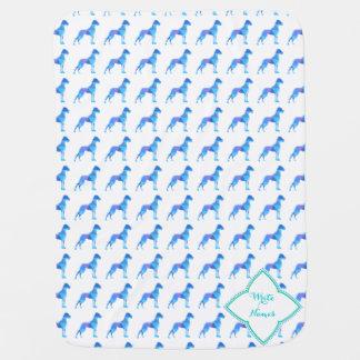 Blue Great Dane Triangulus Receiving Blanket