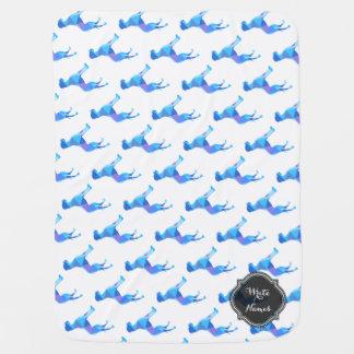 Blue Great Dane Triangulus Baby Blankets