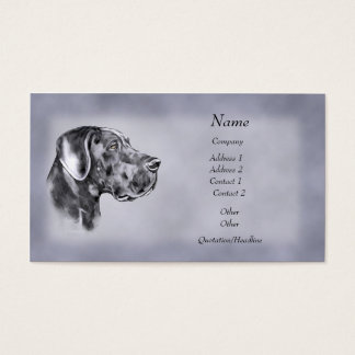 Blue Great Dane Uncrop Business Card
