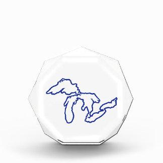 Blue Great Lakes Acrylic Award