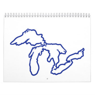 Blue Great Lakes Calendar