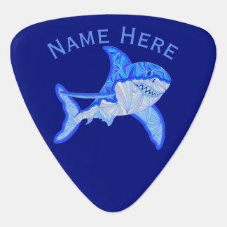 Blue Great White Shark Colorful Sea Animal Guitar Pick