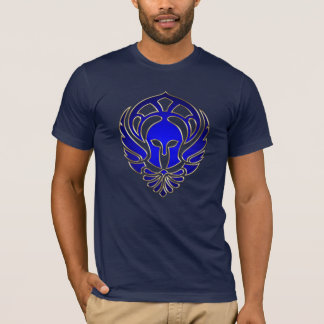 Blue Greek Spartan Warrior Gold Men's T-Shirt