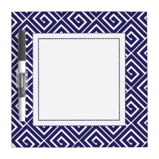 Blue Greek Spirals Dry Erase Dry Erase Whiteboard