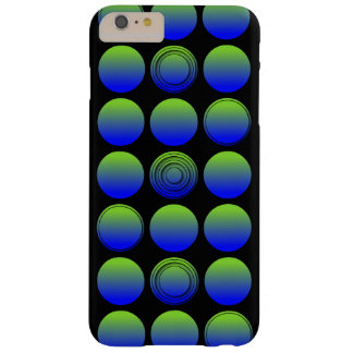 Blue Green 3D Polka Dots Barely There iPhone 6 Plus Case