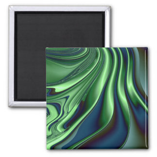 Blue Green 4 2 Inch Square Magnet