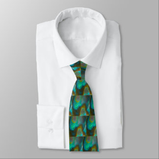 Blue Green Abalone Shell Tie