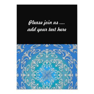 Blue Green Abstract Art Card