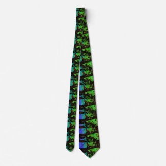 Blue Green Abstract Drum Set Tie