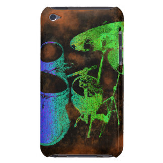 Blue Green Abstract Drums I Pod 5 Case iPod Case-Mate Cases