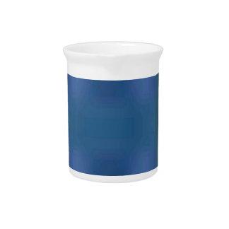 Blue Green Abstract Fractal Hip Trendy Design Beverage Pitcher