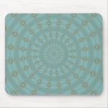 Blue Green Abstract Spiral Mouse Pads
