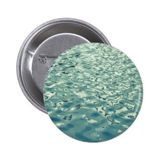 Blue Green Abstract Water Photograph Pinback Buttons