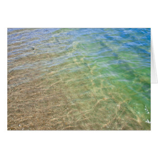 Blue Green Abstract Water Photograph Card