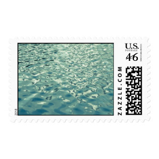 Blue Green Abstract Water Photograph Postage
