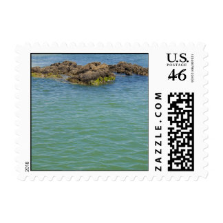 Blue Green Abstract Water Photograph Postage Stamps