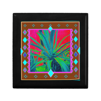 Blue-Green Agave Cacti Art Gifts by Sharles Gift Boxes