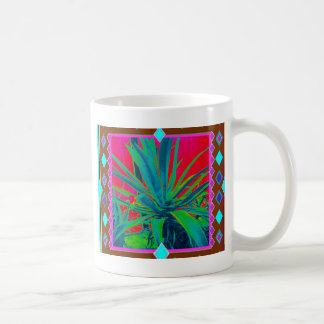 Blue-Green Agave Cacti Art Gifts by Sharles Coffee Mugs