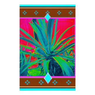 Blue-Green Agave Cacti Art Gifts by Sharles Stationery